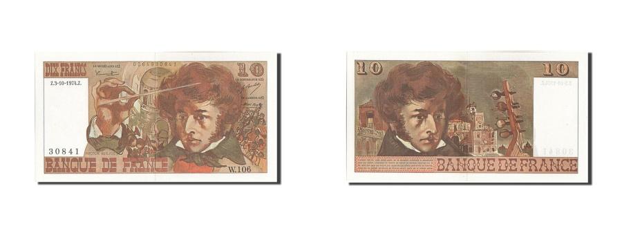 World Coins - France, 10 Francs, 10 F 1972-1978 ''Berlioz'', 1974, KM #150a, 1974-10-03,...