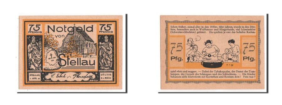 World Coins - Germany, Schleswig-Holstein, 75 Pfennig, 1921, UNC(63), Mehl #1264.1b