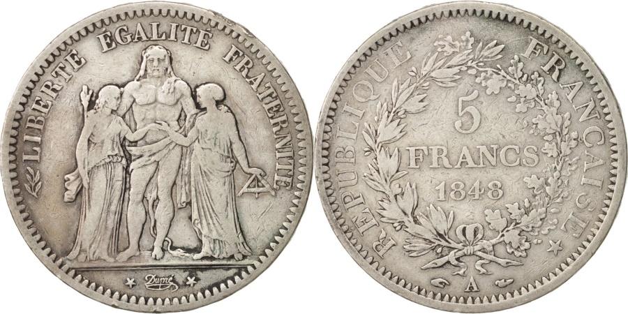 World Coins - France, Hercule, 5 Francs, 1848, Paris, , Silver, KM:756.1, Gadoury:683