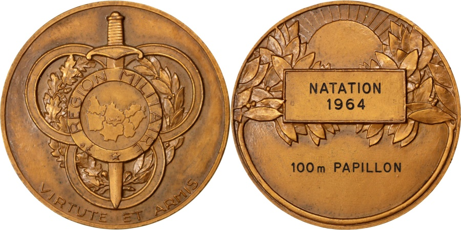 World Coins - FRANCE, Sports & leisure, French Fifth Republic, Medal, , Bronze, 50,..