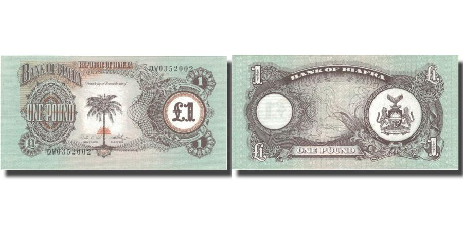 World Coins - Banknote, Biafra, 1 Pound, KM:5a, UNC(65-70)