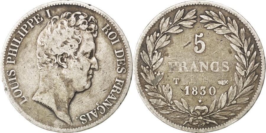 World Coins - FRANCE, Louis-Philippe, 5 Francs, 1830, Nantes, KM #735.12, , Silver,..