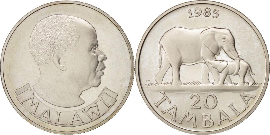 World Coins - Malawi, 20 Tambala, 1985, British Royal Mint, , Copper-nickel, KM:11.2