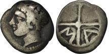 Ancient Coins - Massalia, Obol, Marseille, VF(20-25), Silver