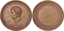 World Coins - France, Napoleon, Medal, Peace with England, An X (1801), AU(55-58), Bronze