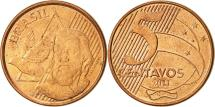 World Coins - Brazil, 5 Centavos, 2011, AU(55-58), Copper Plated Steel, KM:648