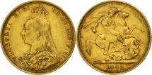 World Coins - Australia, Victoria, Sovereign, 1888, Sydney, EF(40-45), Gold, KM:10