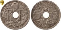 World Coins - France, Lindauer, 5 Centimes, 1924, Paris, PCGS, MS65, MS(65-70), Copper-nickel