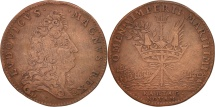 World Coins - France, Token, Royal, Galères Royales, Louis XIV, EF(40-45), Copper