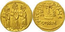Heraclius, Solidus, Constantinople, AU(55-58), Gold, Sear:767