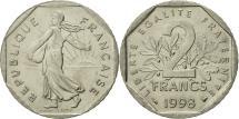 World Coins - France, Semeuse, 2 Francs, 1998, Paris, MS(63), Nickel, KM:942.1, Gadoury:547