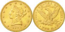 Us Coins - United States, Coronet Head, $10, 1892, Philadelphia, AU(50-53), KM 102