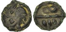 Ancient Coins - Bellovaci, Potin aux chevrons et à la tête chevelue, AU(50-53), Delestré:534