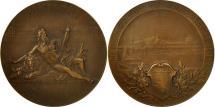 World Coins - France, Medal, XXXVème Congrès , Lyon, 1906, Paul Richer, AU(55-58), Bronze
