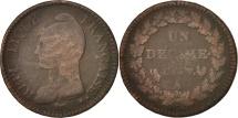 France, Dupré, Decime, 1798, Paris, VG(8-10), Bronze, KM:644.1, Gadoury:187