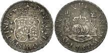 World Coins - Mexico, Ferdinand VI, 2 Réales, 1757, Mexico City, AU(50-53), Silver, KM:86.1