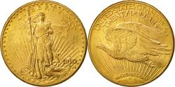 Us Coins - Coin,United States,Saint-Gaudens,$20,Double Eagle,1910,Denver,AU(50-53),KM 131