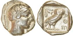 Ancient Coins - Coin, Attica, Athens, Tetradrachm, 454-404 BC, Athens, EF(40-45), Silver