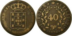 World Coins - Coin, Portugal, Miguel, 40 Reis, Pataco, 1832, , Bronze, KM:391