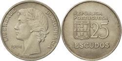 World Coins - Coin, Portugal, 25 Escudos, 1984, , Copper-nickel, KM:607a