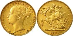 World Coins - Coin, Australia, Victoria, Sovereign, 1885, Melbourne, , Gold, KM:7