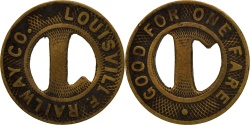 Us Coins - United States, Token, Louisville Railway Company