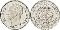World Coins - VENEZUELA, 2 Bolivares, 1989, KM #43a.1, , Nickel Clad Steel, 27, 7.55