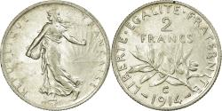 World Coins - Coin, France, Semeuse, 2 Francs, 1914, Castelsarrasin, , Silver