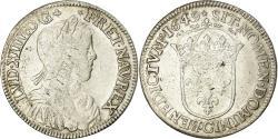 World Coins - Coin, France, Louis XIV, 1/2 Écu à la mèche longue, 1649, Saint-Lô