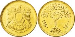 World Coins - EGYPT, 2 Piastres, 1980, KM #500, , Aluminum-Bronze, 23, 4.93