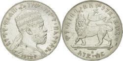 World Coins - Coin, Ethiopia, Menelik II, Birr, 1889 (1897), EF(40-45), Silver, KM:5