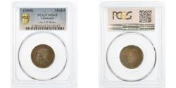 World Coins - Cambodia, Medal, Norodom Ier, 1860, graded, PCGS, MS65, 35530307, Brass