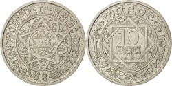 World Coins - MOROCCO, 10 Francs, 1946, Paris, KM #E35, , Copper-Nickel, Lecompte...