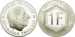 World Coins - Coin, France, Charles de Gaulle, Franc, 1988, Paris, , Silver, KM:978