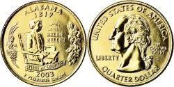 Us Coins - Coin, United States, Alabama, Quarter, 2009, U.S. Mint, Denver, golden
