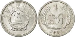 World Coins - Coin, CHINA, PEOPLE'S REPUBLIC, Fen, 2005, , Aluminum, KM:1