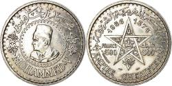 World Coins - Coin, Morocco, Mohammed V, 500 Francs, 1956/AH1376, Paris, , Silver