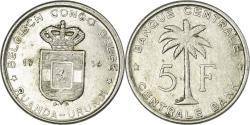 World Coins - Coin, Belgian Congo, RUANDA-URUNDI, 5 Francs, 1956, EF(40-45), Aluminum, KM:3