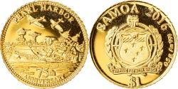 World Coins - Coin, Samoa, Pearl Harbor, Dollar, 2016, , Gold