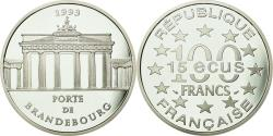 World Coins - Coin, France, Porte de Brandebourg, 100 Francs-15 Ecus, 1993, , Silver