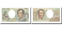 World Coins - France, 200 Francs, Montesquieu, 1988, 1988, UNC(60-62), Fayette:70.8, KM:155c