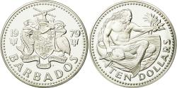 World Coins - Coin, Barbados, 10 Dollars, 1979, Franklin Mint, , Silver, KM:17a