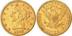 Us Coins - Coin, United States, Coronet Head, $5, Half Eagle, 1893, U.S. Mint