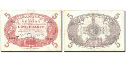 World Coins - Banknote, Réunion, 5 Francs, Undated (1944), KM:14, EF(40-45)