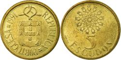 World Coins - Coin, Portugal, 5 Escudos, 1991, , Nickel-brass, KM:632