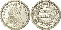 Us Coins - Coin, United States, Seated Liberty Dime, 1850, Philadelphia,