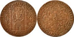 World Coins - France, Medal, Reproduction du Franc à Pied, Charles V, 1968, MS(63), Copper