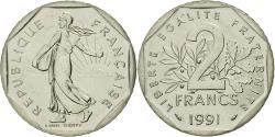 World Coins - Coin, France, Semeuse, 2 Francs, 1991, Paris, , Nickel, KM:942.2