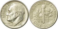 Us Coins - Coin, United States, Roosevelt Dime, Dime, 1951, U.S. Mint, San Francisco