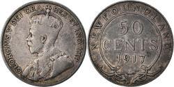 World Coins - Coin, NEWFOUNDLAND, 50 Cents, 1917, Royal Canadian Mint, Ottawa,